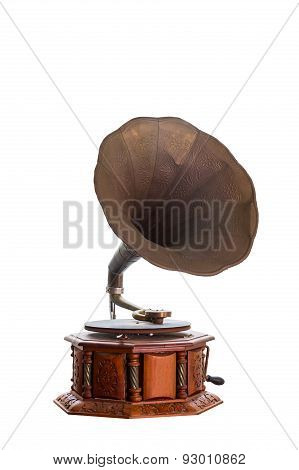 Retro Old Gramophone.