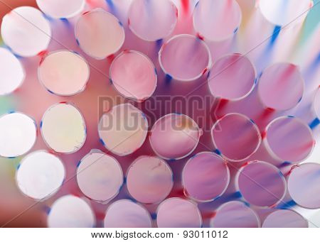 Abstract Of Colorful Drink Straws