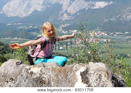 Girl Enjoy Hiking