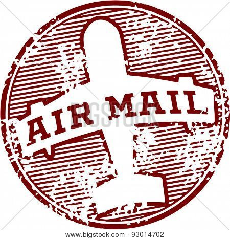 Vintage Air Mail Postal Stamp