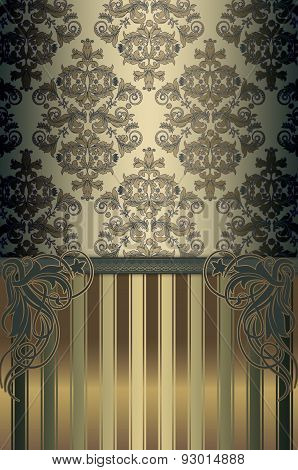 Decorative Background With Elegant Patterns.