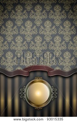 Vintage Background With Frame.