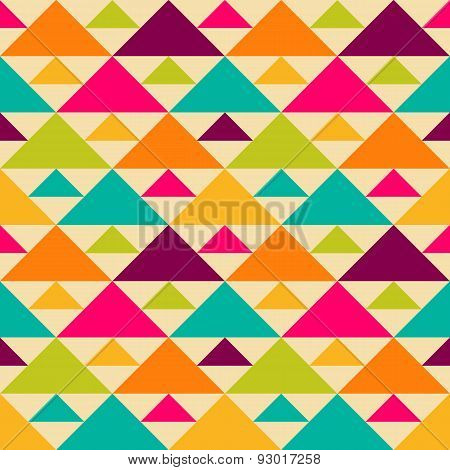 Bright retro vector seamless pattern.