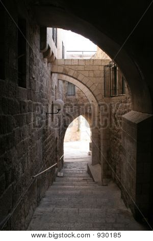 Shadowed Ally In The Old City Of Jerusalem