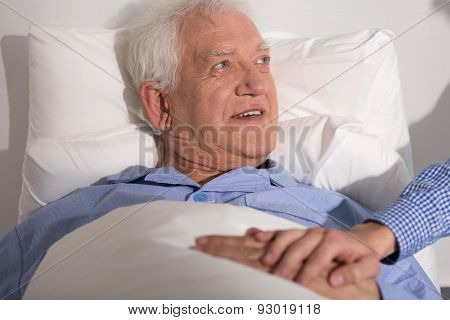 Happy Man In Hospital