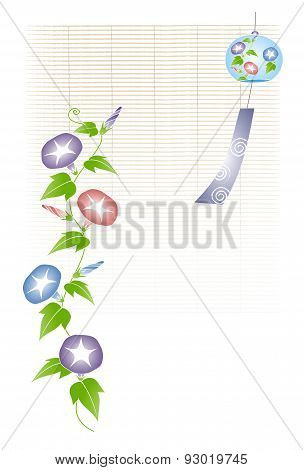 A Wind Chime With Morning Glory