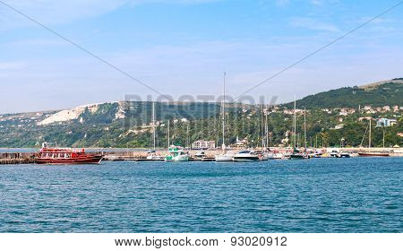 Balchik Resort Town Marina. Moored Yachts