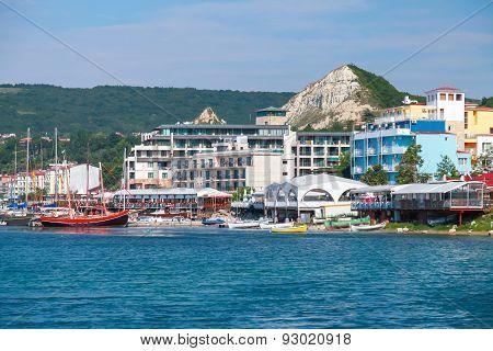 Summer Cityscape Of Balchik Resort Town