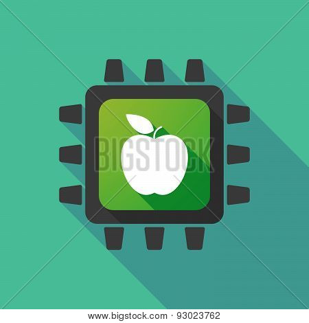 Cpu Icon With A Fruit