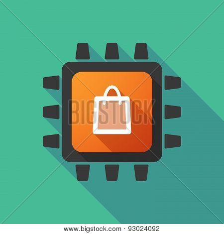Cpu Icon With A Shopping Bag
