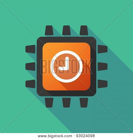 Cpu Icon With A Clock