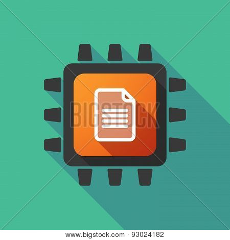 Cpu Icon With A Document