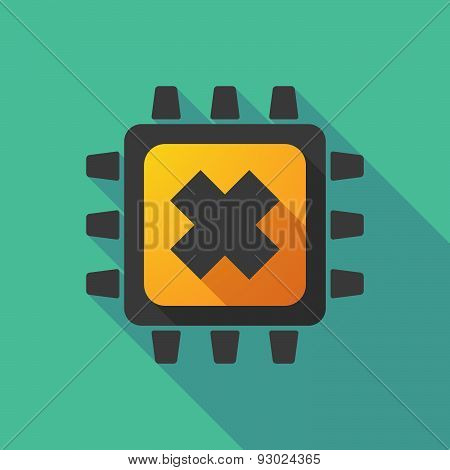 Cpu Icon With An Irritating Substance Sign