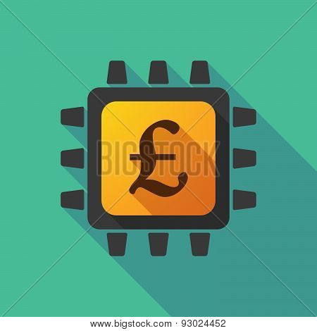 Cpu Icon With A Currency Sign