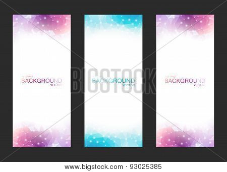 Set Of Vector Isolated Blurred Backgrounds