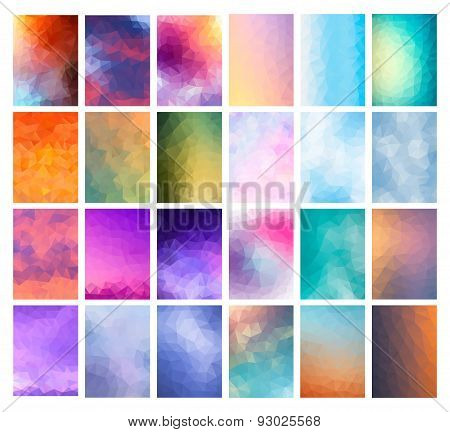 Set Abstract Modern Poligonal Background
