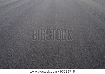 Freshly Paved Asphalt Road