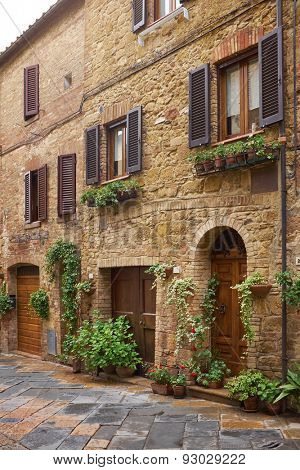 Typical italian narrow street