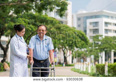 Practice in hospital park