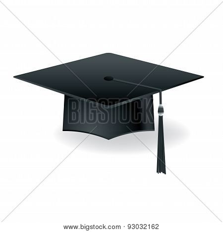Graduation Cap Mortar Board Isolated Illustration