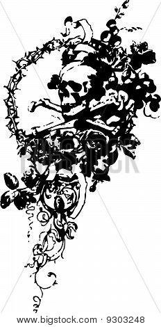 skull emblem design
