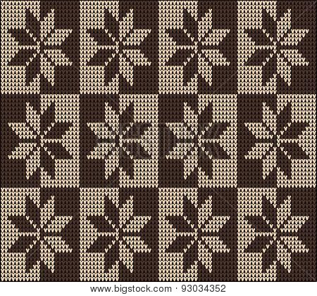 Knitting Pattern Seamless Sweater Brown Ornament