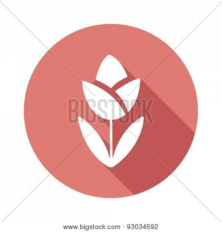 Flower flat icon.Vector