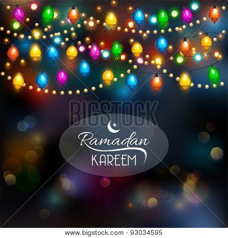 Ramadan Kareem Background.Vector