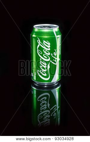 Auckland, New Zealand - May 22nd, 2015: 355 ml can of Coca-Cola Life