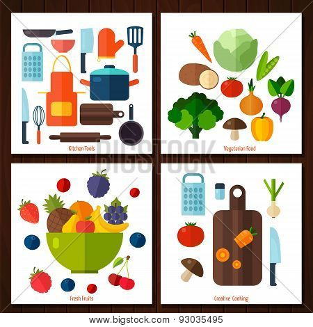 Fruits and vegetables background.