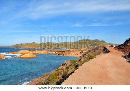 View Of Pregondo Beach In Menorca, Balearic Islands, Spain