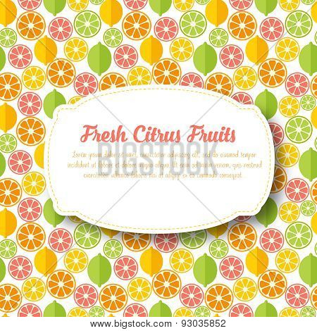 Fruits citrus background.
