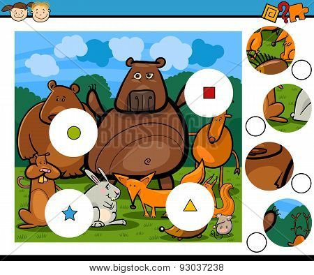 Education Cartoon Game with Animals