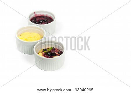 Pudding with Blueberry