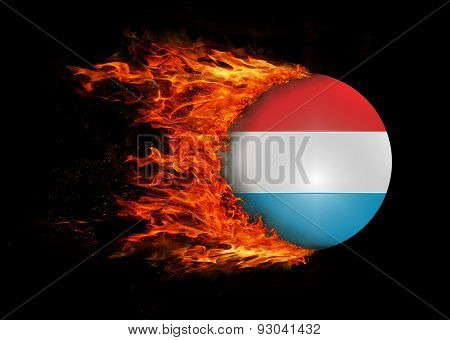 Flag With A Trail Of Fire - Luxembourg