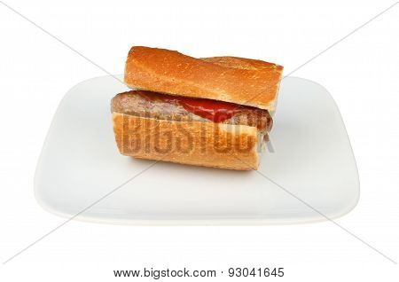 Sausage In Crusty Bread