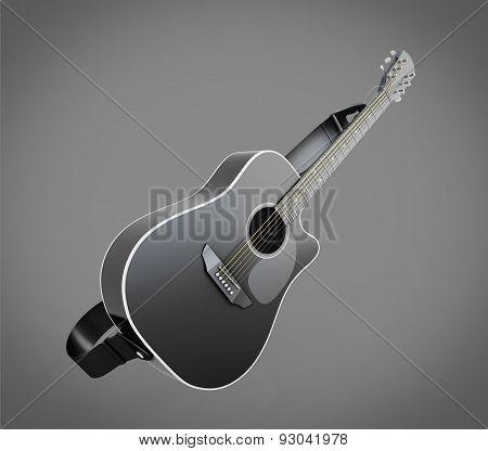 Acoustic Classic Guitar Illustration