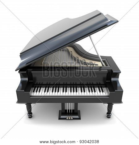 3D Black Grand Piano