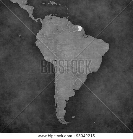 Map Of South America - French Guiana