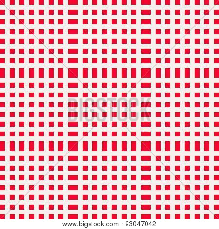 Red and white gingham tablecloth for a picnic or outdoor food