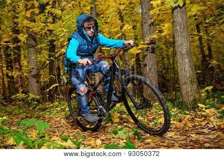 Cyclist autumn