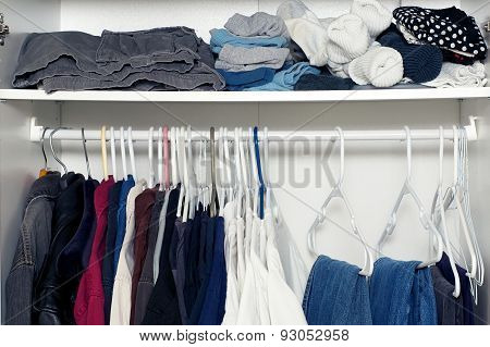 Inside Wardrobe With Shelf