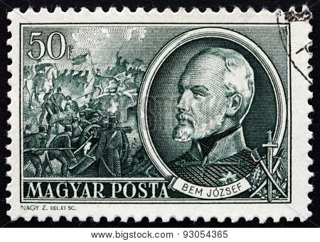 Postage Stamp Hungary 1952 General Josef Bem, Polish General