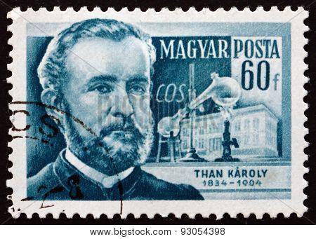 Postage Stamp Hungary 1954 Karoly Than, Hungarian Chemist