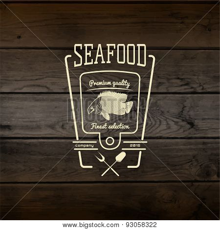 Seafood badges logos and labels for any use