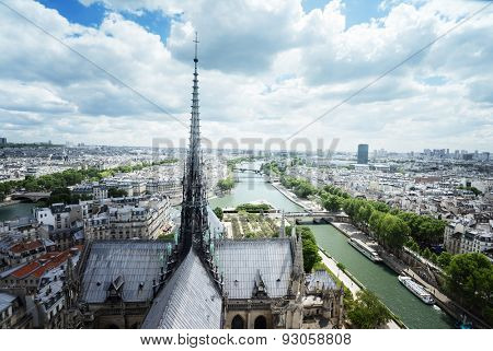 Paris from Notre Dame, France