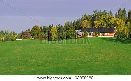 Scandinavian Autumn Landscape