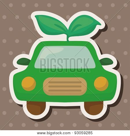 Environmental Protection Concept Theme Elements; Reduce The Use Of Gasoline, Reduce Air Pollution; E