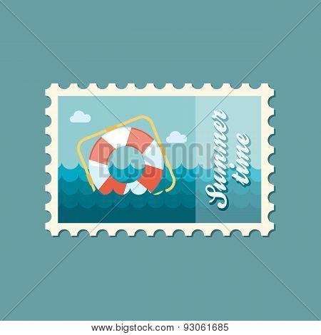 Lifebuoy flat stamp, summertime