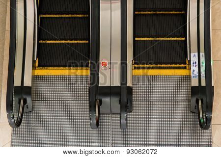 Escalators In A Public Building